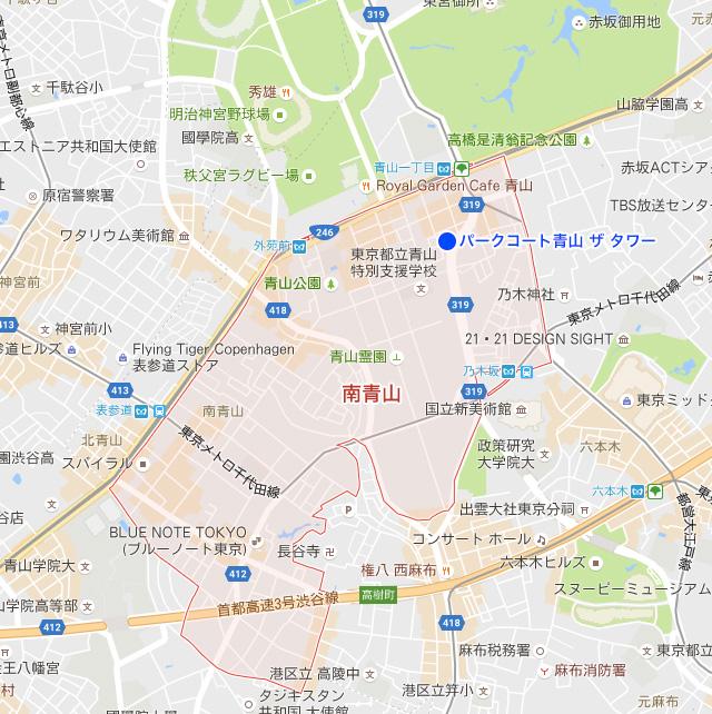 地図:南青山