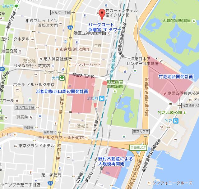 浜松町の再開発計画